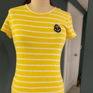 Yellow J. Crew t-shirt